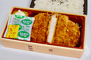 三元豚の豚カツ弁当/600円(税込)